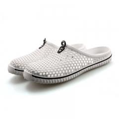 Beach Shoes Casual Men Hole Shoes Shoe Sandals Slippers Summer Flip Flops Women Shoes Outdoor White 36