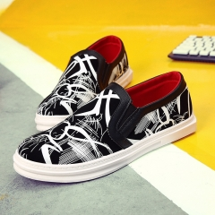 Men's casual shoes Korea Style men's shoes with students fashion sports shoes sneakers White 39
