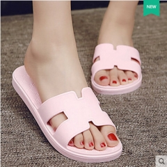 2016 new slippers ms summer cool slippers antiskid flat wedges slippers Pink 36