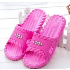 Summer Cool Lace Up Bathroom Slippers Soft Bottom Indoor Slippers for men and women rose red 38