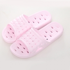 Couples anti-skid bathroom bath cool slippers; male and female hollow out cool slippers slippers 01 pink 37