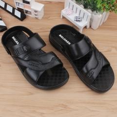 Men leisure summer sandals in the summer of dual-use run river cool fashion sandals slippers Black 40