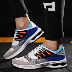 2016 man Increased Leisure Sports Lace Up Athletic Running Shoes Sneaker for Men black-white 39