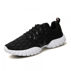 new net surface breathable sneaker net cloth shoes fashion leisure couples running shoes black 35
