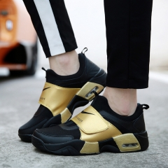 In 2016, the new men's fashion shoes sneakers couples leisure sports shoes for men and women gold 36