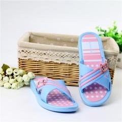 2016 summer cool new household EVA slippers antiskid beauty bridge cross belt bathroom slippers Blue 35