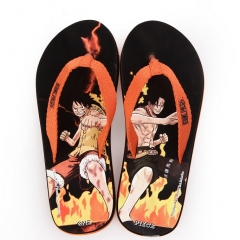 One piece of cartoon male slippers hand-printed fashion beach flip-flops slippers H20 XS(34-35)