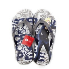 One piece of cartoon male slippers hand-printed fashion beach flip-flops slippers H38 S(36-37)