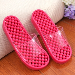 Authentic nib sandals bathroom anti-skid hollow out leaking household massage couple slippers Rose red S(35-37)