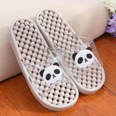 Authentic nib sandals bathroom anti-skid hollow out leaking household massage couple slippers Gray S(35-37)