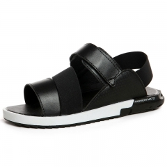 Man Cool Slippers Casual Shoes Summer Prevent Slipper Fashionable Beach Shoes Black 36