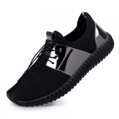 Male Breathable Sequins Shoes Mesh Running Shoes Leisure Resistance Sneakers For Men Black 39