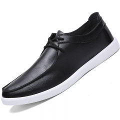Men Breathable Leisure Shoes British Style Sneakers Fashional Lace-Up Shoes Black 39