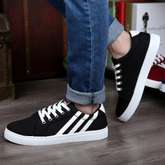2016 hot new style Fashional Sports  Shoes Leisure Canvas Shoes Sneakers Black 39