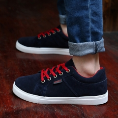 2016 Breathable Sports Men Casual Shoes Fashional Lace Up Male Shoes Sneakers Blue 39
