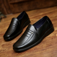 Leisure Men Business Suits Shoes Work Lether Sneakers Comfort Slip-on Shoes Black 39