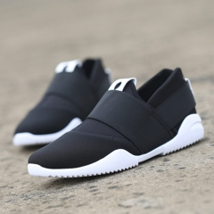 Slip-Ons Higher Shoes Men's Casual Shoes Breathable Canvas Sneakers Shoes for Men black 39