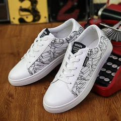Breathable men Casual shoes fashion cloth shoes Sneakers men's Shoes Slip-Ons White 39