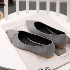 New Style Flat Sandals Metal Point Shallow Mouth Casual Shoes Slippers Gray 35