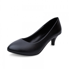 Spring/Summer 2016 Women's Heels Round Head Small Heel Shoes Office lady Low Heels Shoes Black 35