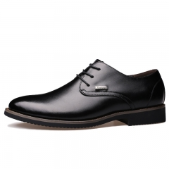 Men's Leather Shoes British Style Business Suits Sneakers Fashion Formal Shoes Black 37