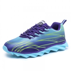 Women's sneakers surface wave couples leisure running shoes blade outdoor shoes for women blue 35
