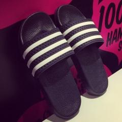 2016 fashional bathroom slippers sandals flip flops for men/women 01 Black 35