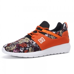 Camouflage shoes leisure sports shoes net surface running shoes fashion sports shoes orange 39