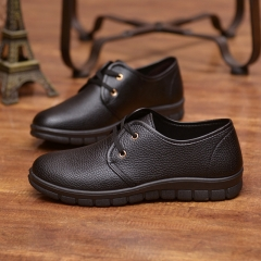 Men's casual shoes non-skid business leather shoes black 38