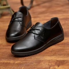 Men work business casual shoes men round head with waterproof sandals British youth breathable shoes black 38