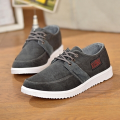 new department students recreational canvas shoes fashionable men breathe freely shoes black 39