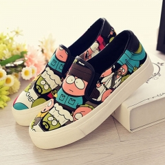 Casual shoes thick canvas shoes female students at the bottom of the shoes for women's shoes animated 35