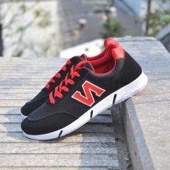 Running Sneakers Shoes Lace Up Casual Leisure Shoes for Students red 39