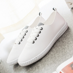 Breathable Recreational Casual Shoes Women Flat Shoes Female Athletic Lace Up Shoes black 35