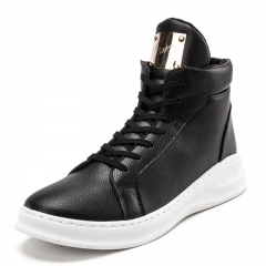 2016 Fashion Movement Lace-Up Shoes Sneakers solid-colored men Casual Shoes black 39