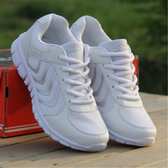 2016 Women Lace Up Casual Shoes Fashion Breathable Sneakers Women Canvas Shoes White 36
