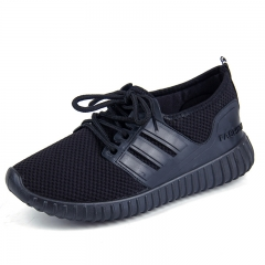 Female Leisure Sports Shoes Running Shoes Comfortable Fashion Shoes Lace-Up black 36