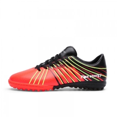 Rubber Soles Football Training Shoes Breathable Wearable Soccer Shoes For Men red 39