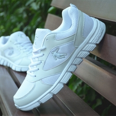 Net Surface Comfortable Breathable Shoes Couples Running Shoes Students Leisure Sports Shoes white 36