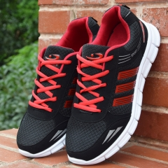 Casual Sneaker Net Surface Breathable Running Shoes Students Fashion Sports Shoes red 39