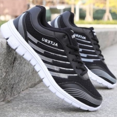 Breathable Fashion Casual Sneaker Shoes Net Surface Hollow-Out shoes For Men and Women black 36