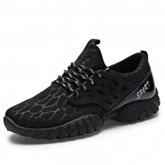 Men Lace Up Mesh Breathable Sneaker Casual Running Shoes Sport Shoes for Men Black 41