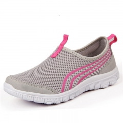 Slip-Ons Fashional Casual Shoes Flats Shoes Breathable Zapatillas sneaker Shoes for Men/ Women gray 36