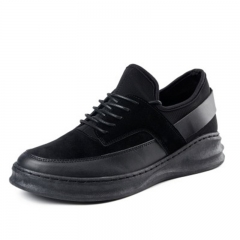 New Style Men's Casual Shoes Daily Breathable Sneaker Higher Platform Sandals black 39