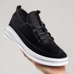 New Style Casual Shoes Daily Breathable Sneaker Higher Platform Sandals Slippers for Men black 39