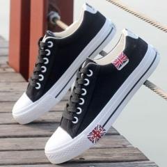 Men Breathable Canvas Shoes Men's Shoes Sneakers Loafers Students Cloth Shoes black 39