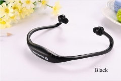 S9 Wireless  Sports Bluetooth Headset With FM Card MP3 Music black one size