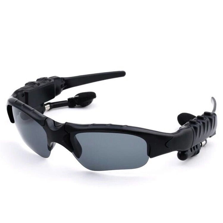 Bluetooth Sunglasses Outdoor Smart Sun Glasses Wireless Headset with Microphone for Smart Phones black normal 30