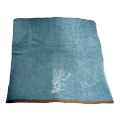 Fluffy soft cotton towels blue 80cm*160cm