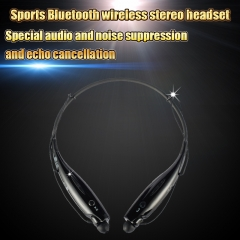 Bluetooth Wireless Headset Stereo Headphone Earphone Sport Handfree Universal black
